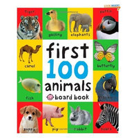 Priddy Books First 100 Animals [Board Book .]