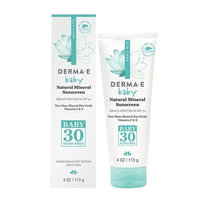 Derma E Natural Mineral Sunscreen SPF 30 for Baby, 4 oz