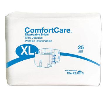 Principle Business Enterprises Adult Incontinence Briefs - Comfort Care Tab Close - Unisex - Disposable - M