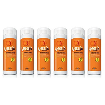 Yes To Carrots Nourishing Shampoo, 16.9 Oz (6 Pack) + FREE Old Spice Deadlock Spiking Glue, Travel Size, .84 Oz