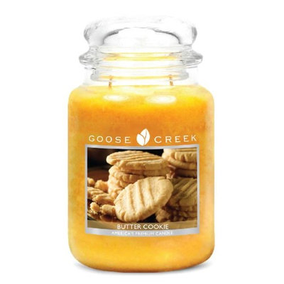 Goose Creek 26-Ounce Butter Cookie Essential Jar Candle with Glass Lid