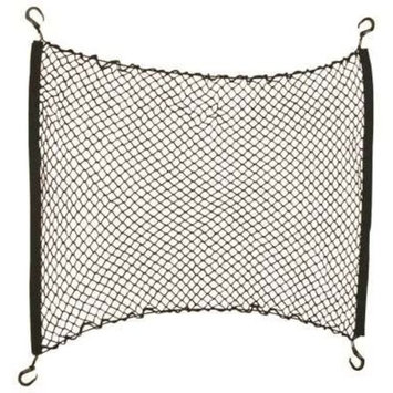 HR High-Quality Car Boot Luggage Net 10324025/Safety Net for Hanging with Elastic Bottom Cable for ANY Vehicle 90 x 80 cm