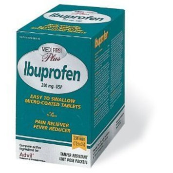 Medi-First 80813 Ibuprofen 250 packets of 2, Pain Reliever