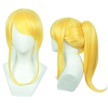 Linfairy Womens Light Blonde Costume Cosplay Wig + 48cm Ponytail