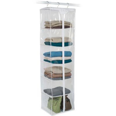 Closetware Clear 6-Shelf Sweater Bag