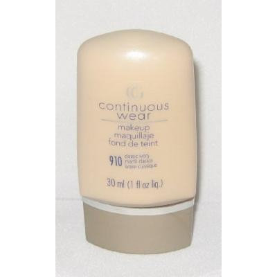 Covergirl Continuous Wear Makeup Foundation Classic Ivory 910, 1 fl. oz., Cover Girl
