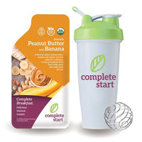 Complete Start - Plant Based Meal Replacement, 100% USDA Organic, Vegan Protein, Instant Breakfast (12 Shakes) - Gluten Free, Dairy Free, Low Carbs, Protein Shake with Peanut Butter and Banana Flavor
