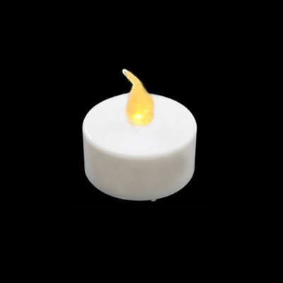 Penn Pack of 4 LED Lighted Battery Operated Flicker Flame White Christmas Tea Light Candles