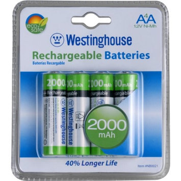 (4 pack) Westinghouse AA NI-MH 2000MAH Rechargeable Batteries: Home Audio & Theater