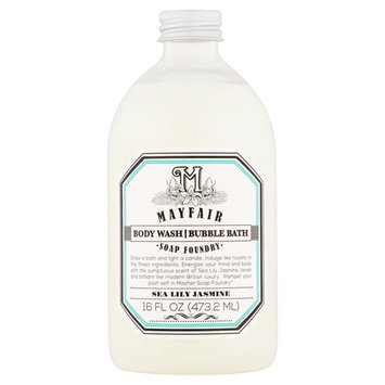 Mayfair Soap Foundry Sea Lily Jasmine Body Wash Bubble Bath, 16 fl oz