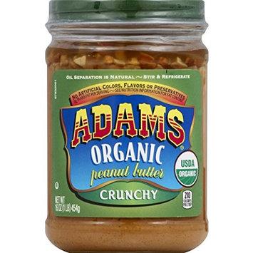 Adams Organic Crunchy Peanut Butter, 16 Ounce [Crunchy]