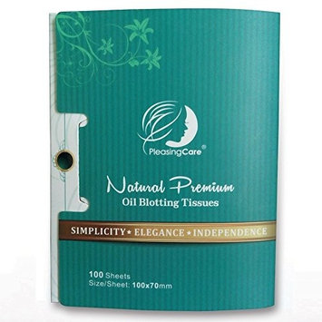 Natural Bamboo Charcoal Oil Absorbing Tissues - 100 Counts, Easy Take Out Design - Top Oil Blotting Paper, Premium Handy Face Blotting Sheets - Facial Skin Care or Make Up Must Have! [Bamboo Charcoal - 1 Pack]
