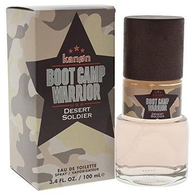 Kanon Boot Camp Warrior Desert Soldier Eau De Toilette Spray for Men, 3.4 Ounce