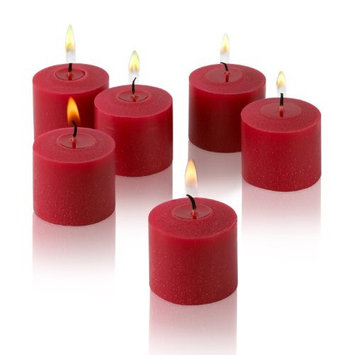 Light In The Dark Candles 10 Hour Red Unscented Votive Candles (Set of 12) LITD-VR1012