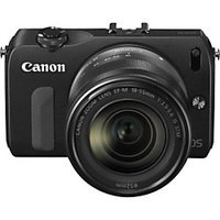 Canon EOS M 18 Megapixel Mirrorless Camera (Body with Lens Kit) - 18mm - 55mm - Black