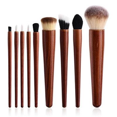 Becoler 9 Pieces Powder Eyeshadow Eyeliner Lip Brush Tools