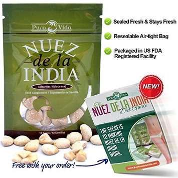 Nuez de la India + FREE Diet Guide eBook (12 Seeds/Semillas)- Original, Authentic, Pure, Safe & Imported Fresh from the Amazon - Inspected & Packaged in an FDA Registered Facility - The Most Effective Nuez de la India on the Market