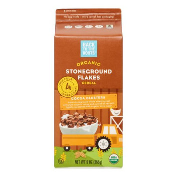 Back To Roots ECV1789064 8 x 9 oz Organic Stoneground Flakes Cocoa Clusters