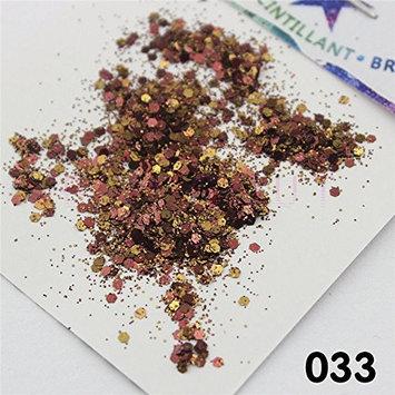 033 Nail Eye Shadow Glitter Coffee Brown Series