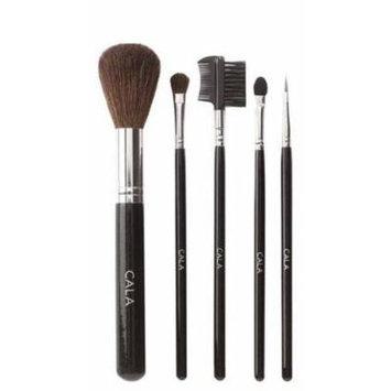 Cala Lily Makeup 5pcs Cosmetic Brush Kit (Large) 76523 + Aviva Nail Buffer