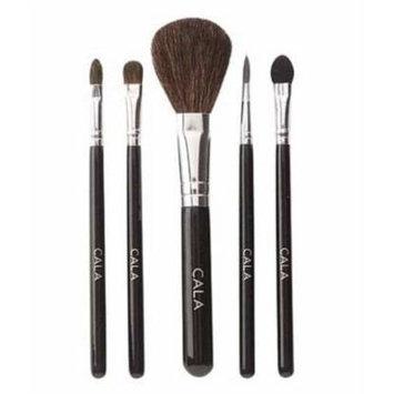 Cala Lily Makeup 5pcs Cosmetic Brush Kit (Small) 76521 + Aviva Nail Buffer