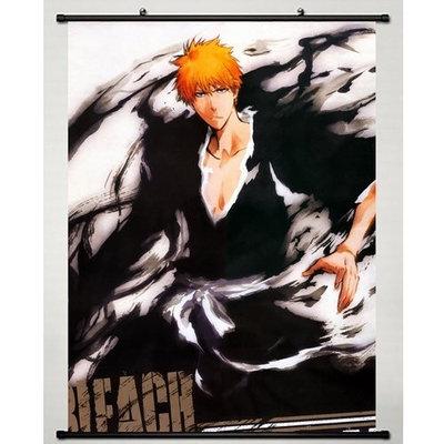 Wall scroll Fans Home Decor Japanese Anime Wall Scroll Bleach Kurosaki Ichigo, 24''*32''