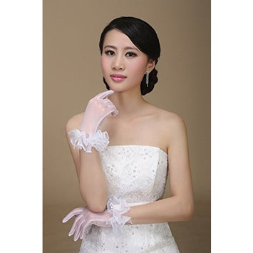 Exquisite Selebrity Tulle Flower Bridal Gloves
