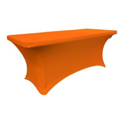 LA Linen TCSpandex72x24x30-OrangeX48 Rectangular Spandex Tablecloth Orange - 72 x 24 x 30 in.