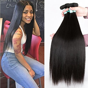 Glamorous Remi 8A Grade Malaysian Straight Virgin Hair 4 Bundles Malaysian Virgin Hair Straight Human Hair Weaves (16 18 20 22inch)