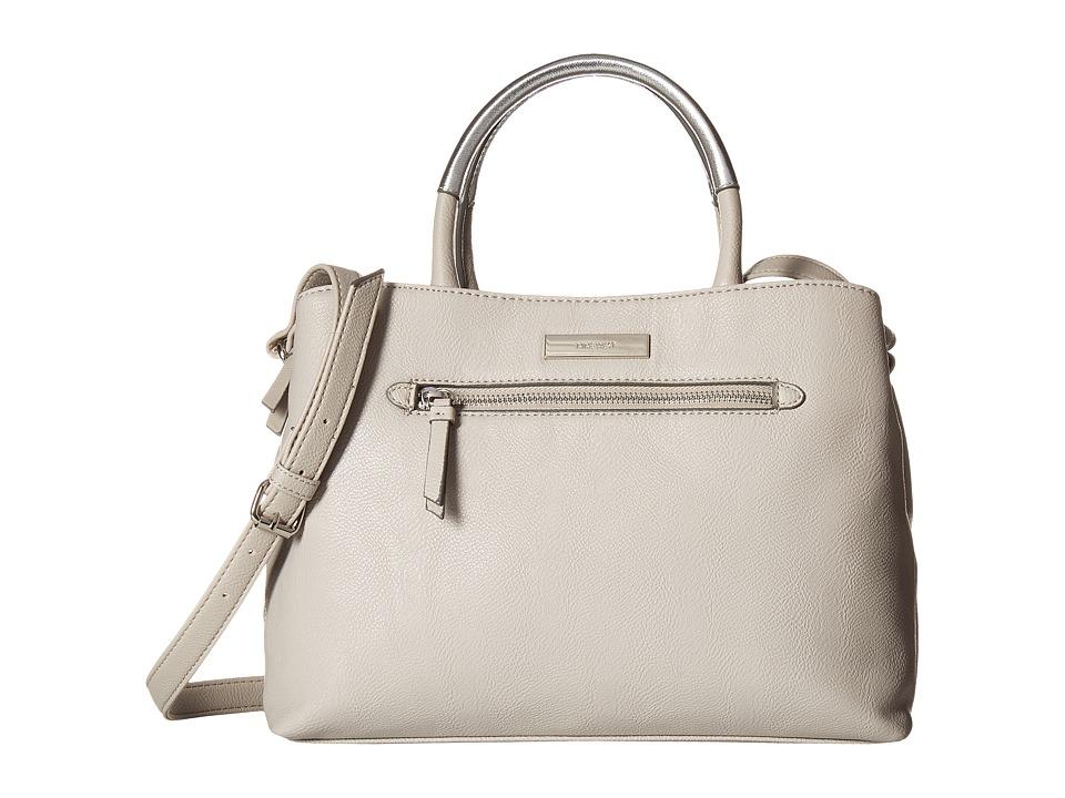 Nine West - Lucia Satchel (Dove/Metallic Silver) Satchel Handbags