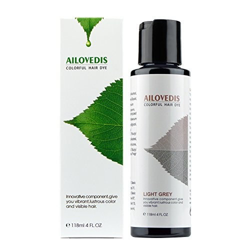 AILOVEDIS 4oz Long Lasting Light Grey Hair Color 118ml Professional Semi Permanent Fashion Pop Hair Dye