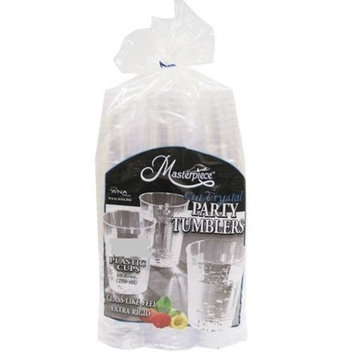 WNA Masterpiece 557405 Crystal Cut Party Tumblers 10 Ounce Plastic Cups 150 Pieces (2 Pack)