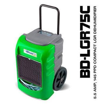 BlueDri? BD-LGR75C 75PPD AHAM 145PPD Compact Low Grain Commercial Dehumidifier Green