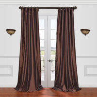 EFF Solid Faux-Silk Taffeta Window Panel - 50'' x 120''