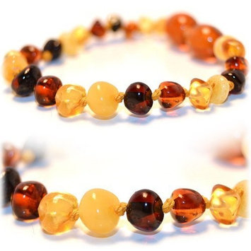Certified Baltic Amber 5.5 inch bracelet (mixed colors) - Anti-inflammatory