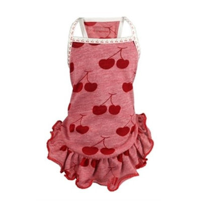 Hip Doggie HD-3RCD-L Large Dress - Red Cherry