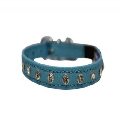 Thierry Mugler Angel Pet Supplies 21824 Athens Rhinestone Cat Collar in Baby Blue