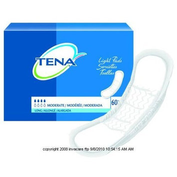 TENA Light Bladder Control Pads, Tena Pad Lng Mod Absbncy, (1 PACK, 60 EACH)