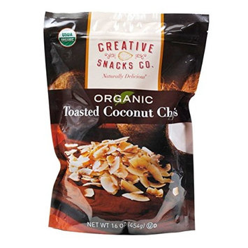 Creative Snacks Organic Toasted Coconut Chips, 16.0 Ounce