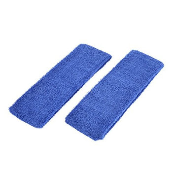 uxcell 2 Pcs Bathroom Spa Face Washing Elastic Headband Hair Band Royal Blue