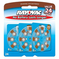 Rayovac Hearing Aid Batteries, Size 312, 24-Count Packages (Pack of 2)