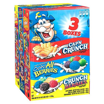 Cap'n Crunch Sweetened Corn & Oat Cereal, Variety Pack (54.1 oz.)