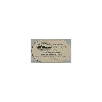 BAR HARBOR Skinless Boneless Smoked Sardine Fillets 6 oz (Pack of 12)