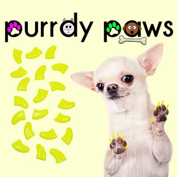 Purrdy Paws Soft Nail Caps for Dogs 40pk - Neon Yellow XXL