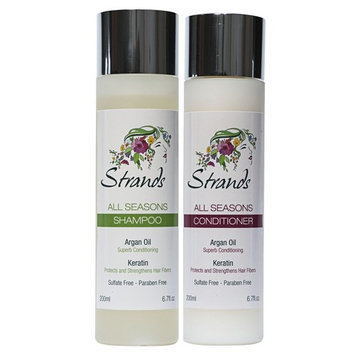 Strands All Seasons Shampoo 6.76oz & Concentrated Conditioner / Mask 6.76oz