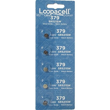LOOPACELL 379 Button Cell Silver Oxide Sr521sw Watch Battery (1 Pack of 5 Batteries)