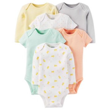Child of Mine by Carter's Newborn Baby Neutral Short and Longsleeve Bodysuit Set 6-Pieces