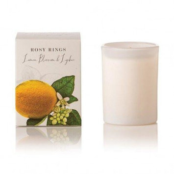 Rosy Rings Botanica Glass Candle 17.5 Oz. - Lemon Blossom & Lychee