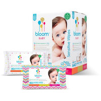 Bloom Baby Premium Luxury Jumbo Wipes for Sensitive Skin (640 ct.) + Travel Clutch