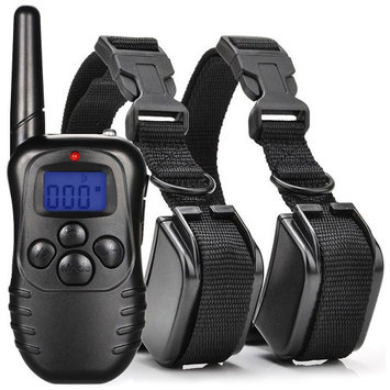 Besmall 300 Meters (328 yards/984 ft.) Dog Training Collar with Remote Rechargeable and Waterproof E-collar Pet Bark Trainer wit